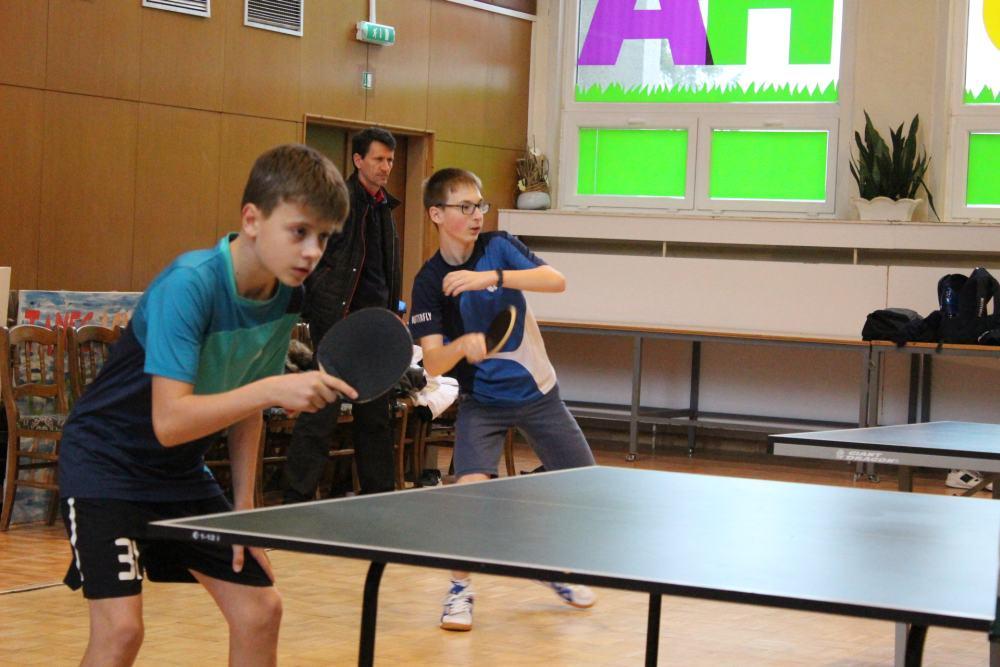 Vyhodnotenie okresného kola v stolnom tenise žiaci ZŠ